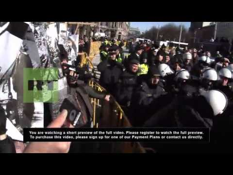Latvia: Violence erupts at veteran Nazi commemoration march