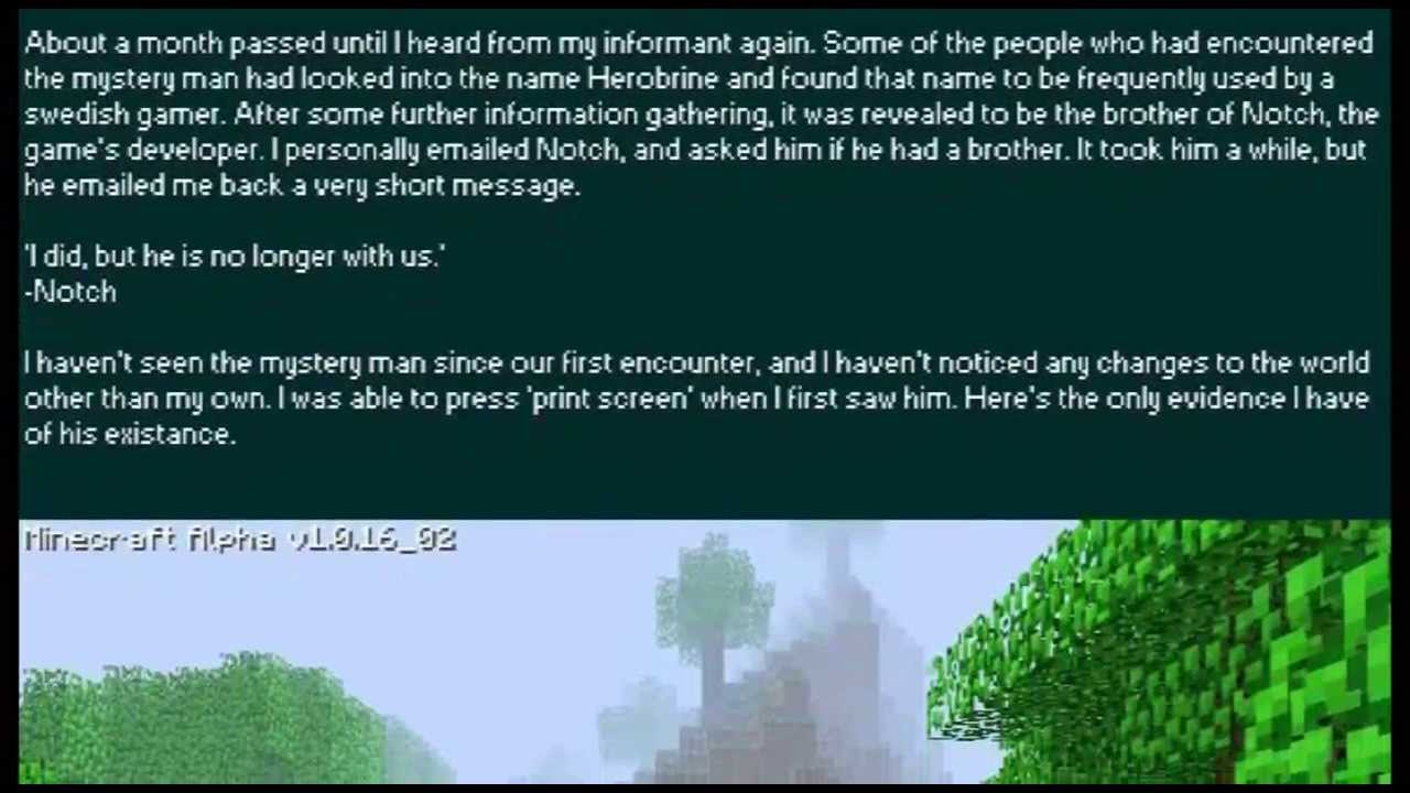 Pin Herobrine-the-real-story-minecraft-blog on Pinterest