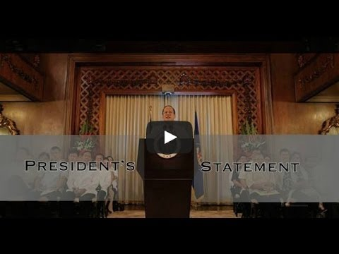 Philippines-President Aquino declares state of national calamity-Video Aquino's speech