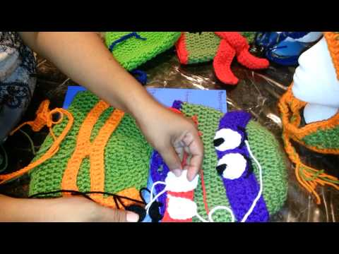 TEENAGE MUTANT NINJA TURTLES CROCHET HATS| GORROS DE CROCHET TORTUGAS NINJA