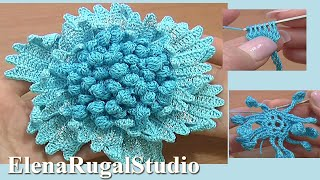 Big Flower To Crochet Tutorial 61 Part 2 Of 3 Crochet Two