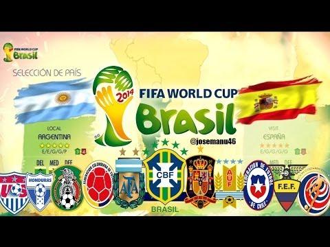FIFA 2014 World Cup Todas las Selecciones Nacionales y Estadios Licenciados