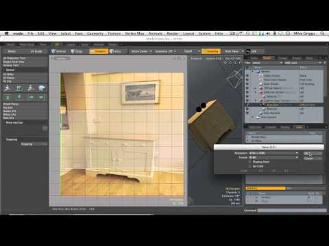 (3 of 5) Add detail using projection mapping in modo