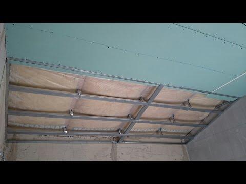 Потолок мансарды своими руками из гипсокартона