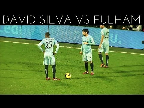 David Silva vs Fulham (A) 2013-2014 EPL HD