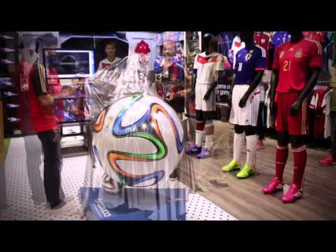 The World Cup 2014 match ball 'Brazuca' unveiling in Singapore