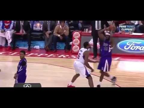 Ben McLemore ejected shoving J J Redick | Kings vs. Clippers | 4.12.14 | HD