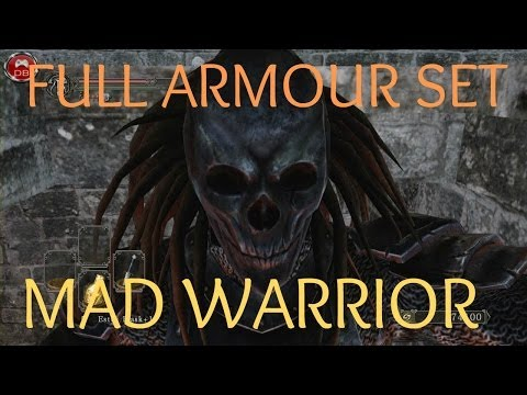 Dark Souls II - FULL Mad Warrior Armour Set - RARE