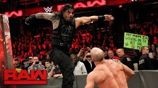 Roman Reigns vs. Cesaro - Intercontinental Championship Match: Raw, Dec. 11, 2017