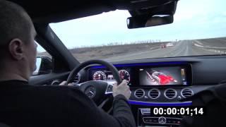 0-100 km/h Mercedes E400 2017 W213. Loud Sound Автозвук.