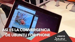 Así es la convergencia de Ubuntu for Phone