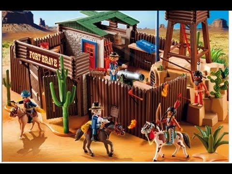 Playmobil fort des soldats western youtube - Playmobil soldat ...