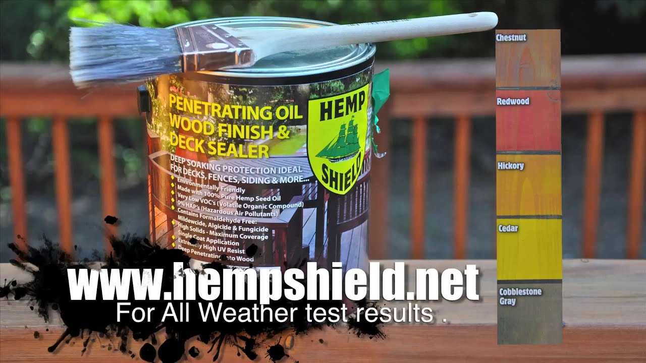 Amazing photo of Hemp Shield Wood Finish and Deck Sealer   with #A88024 color and 1920x1080 pixels
