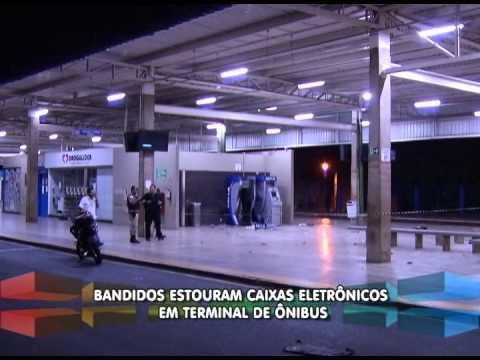 Em menos de 24h bandidos explodem caixa duas vezes em terminal de ônibus