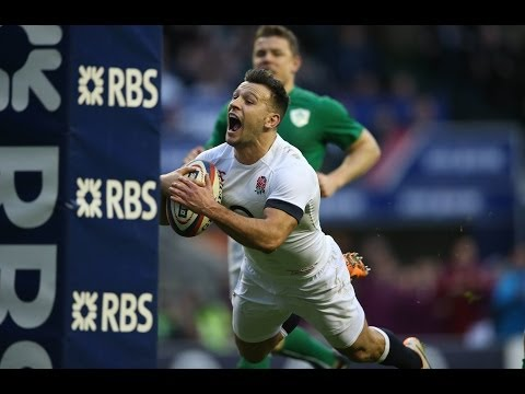 Danny Care dives over for super Try - England v Ireland 22nd February 2014