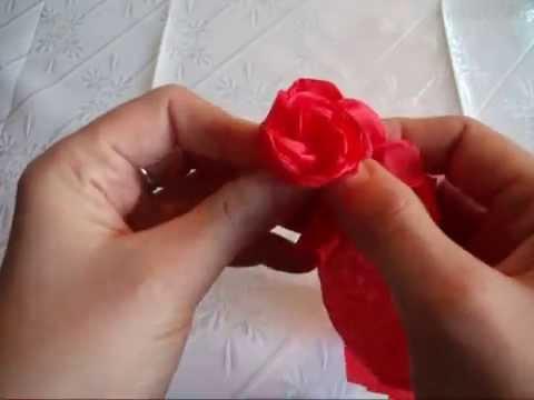 Lubię Tworzyć - Róża z bibuły marszczonej
