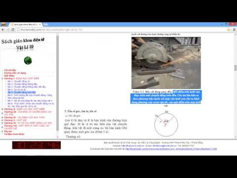 [VẬT LÝ 10] Chương 1 Động học chất điểm. Bài 5 Chuyển động tròn đều