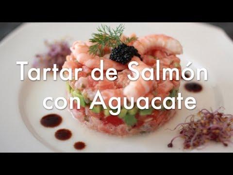 Tartar de salmón y palta