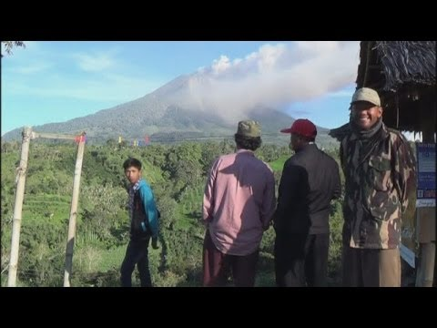 Mount Sinabung eruption: Indonesia volcano spews smoke as alert is raised