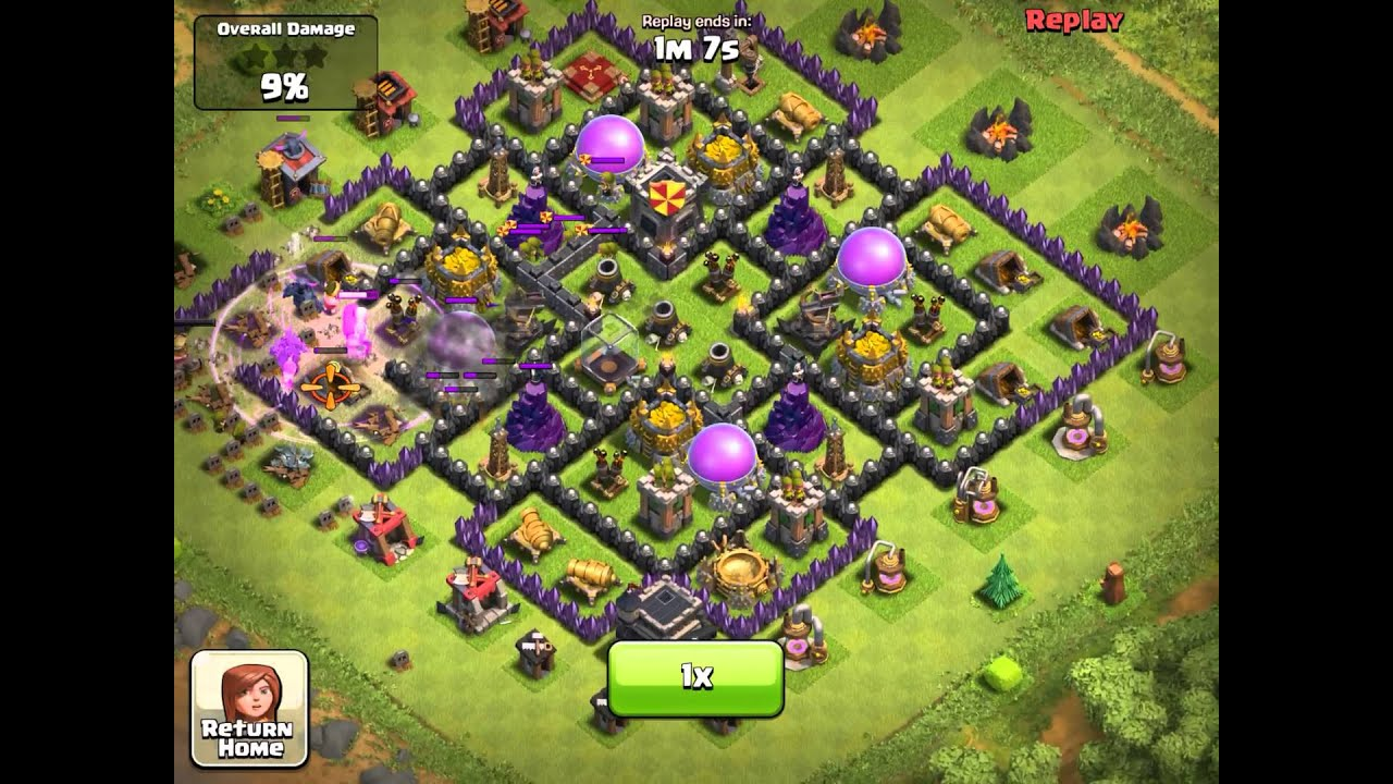 Clash of clans my new base layout th9 youtube