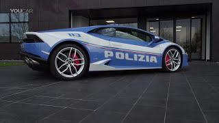 Lamborghini Huracán Polizia (2017) Cockpit, Design [YOUCAR]. YouCar Car Reviews.