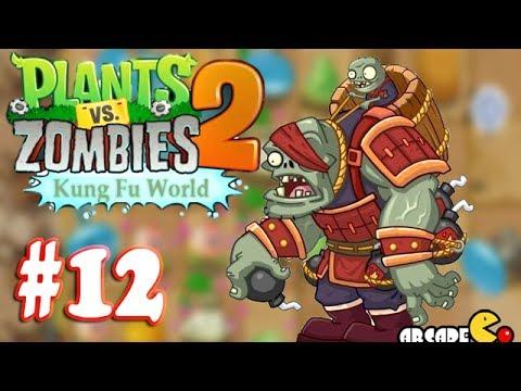 Plants Vs Zombies 2: (NEW Update ZOMBOSS) Kung Fu World Day 16 - Walkthrough Part 12 (China Version)