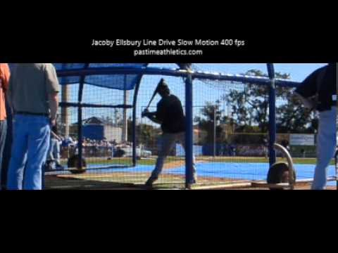 Jacoby Ellsbury Slow Motion Baseball Swing 400 pfs Boston Red Sox New York Yankees MLB