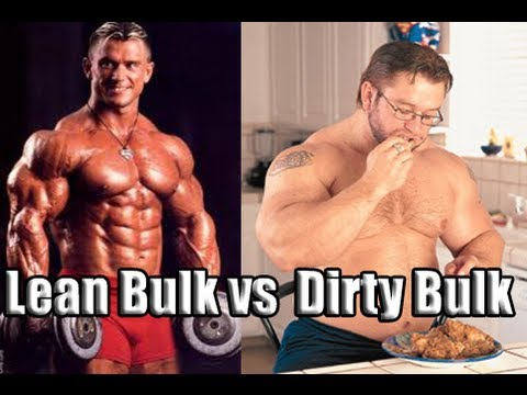lean vs bulk muscle