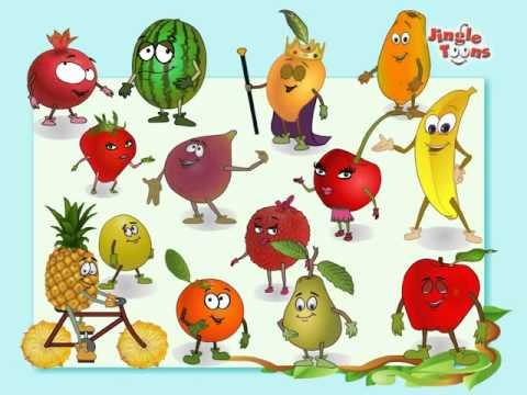 "Fruits Rhymes Jingel Toons, Fruits Rhymes ""Lets sing and dance with the fruits"" Hello Friends Mango, Apple. Banana, Cherry, Fig, Grapes and many more Fruits. You will enjoy meeting thes..."