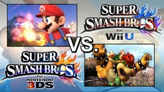 Super Smash Bros. 4 3DS Vs. Super Smash Bros. 4 Wii U