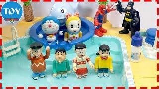 đồ chơi Doremon chế hài - Nobita bị hoán đổi thân xác khi đi bơi cùng XUKA CHAEN XEKO