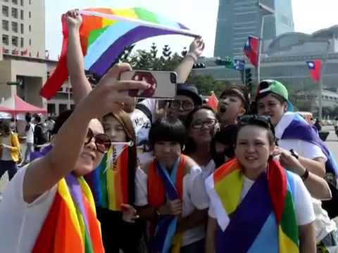 Thousands March in Taiwan for Same Sex Marriage