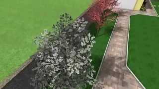 Záhrada okolo rodinného domu - ABW-PLAZA 60x30