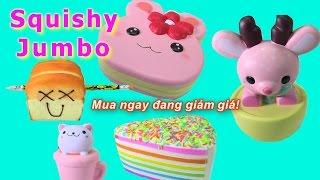 Squishy Khổng Lồ Đủ Loại  Cực Dễ Thương - Ken Tặng Squishy Jumbo Cho Barbie - Cute Squishies Jumbo