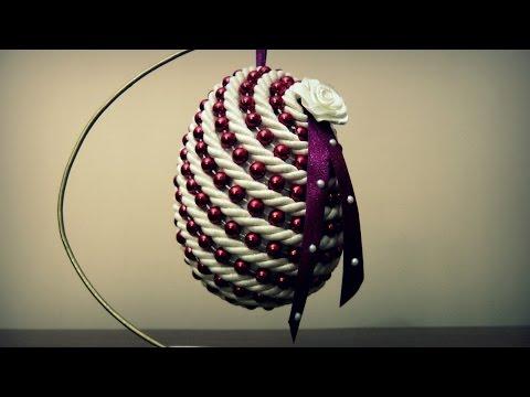 Styropianowe jajko ze sznurka