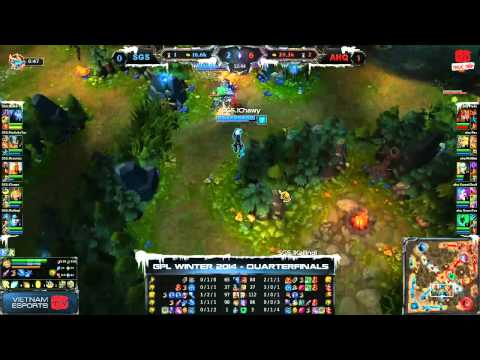 [GPL 2014 Mùa Đông] [Tứ Kết 3] [Game 2] AHQ e-Sports Club vs Singapore Sentinels [11.12.2013]