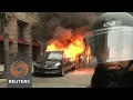 Limo set ablaze, man punched in head on Inauguration Day