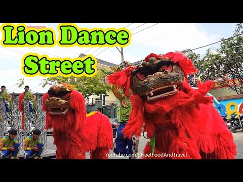 Lion Dragon Dance Lantern Festival Vietnam 2017 - Mua Lan Tet Nguyen Tieu