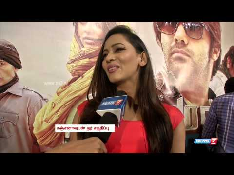 Meagamann actress Sanjana about forgetting her dialogues on seeing Arya