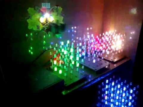 Đèn led sàn nhảy theo nhạc tự chế rất thú vị