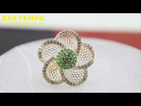 Nhẫn vàng 3D siêu cuốn hút tại Vàng Kim Cương