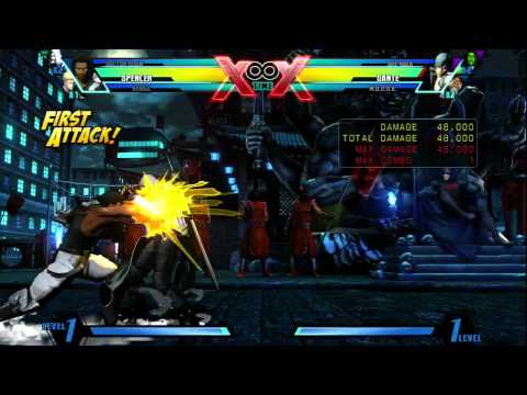 UMvC3 Spencer Practical High Damage Combos