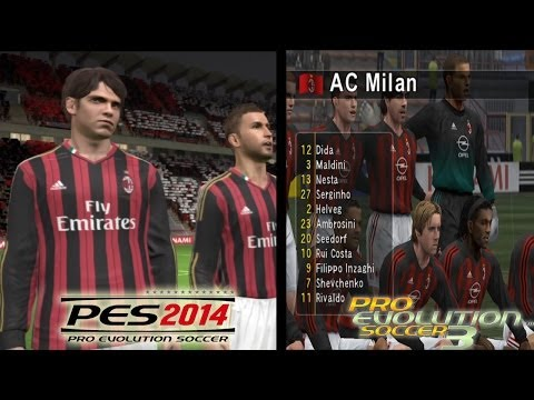 PES 2014 vs PES 3 (WE 7) Game Comparison, the glory days of PES