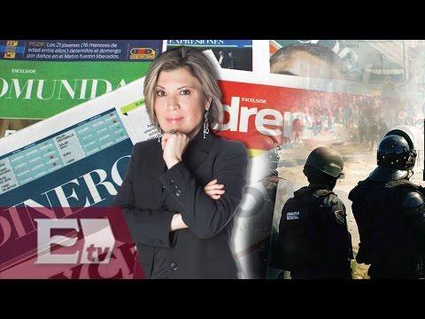 Chocan federales y miembros de la CNTE / Ivonne Melgar