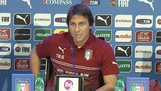 """Conte: """"Se Verratti sarà ko, potrei convocare Pirlo"""" - 6 Ottobre 2014"""
