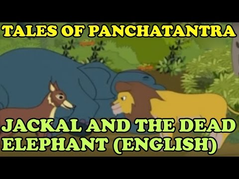 Tales Of Panchatantra | Jackal and The Dead Elephant | English | KidRhymes