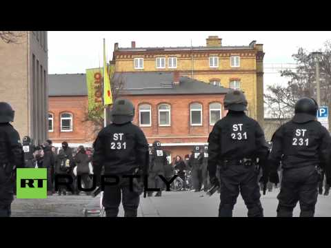 Nazi-era memorial march leads to clashes