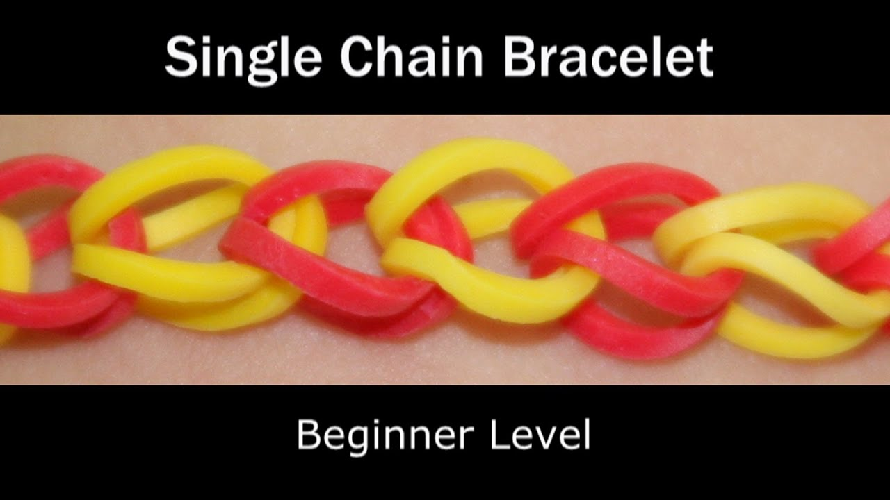 Rainbow Loom® Single Chain Bracelet - Lesson 1 - YouTube
