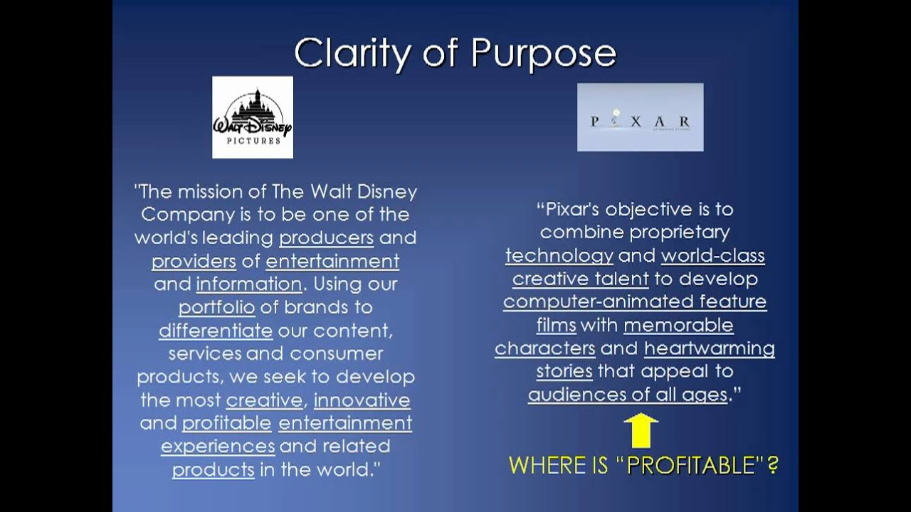 Walt Disney Company Mission and Vision Statement