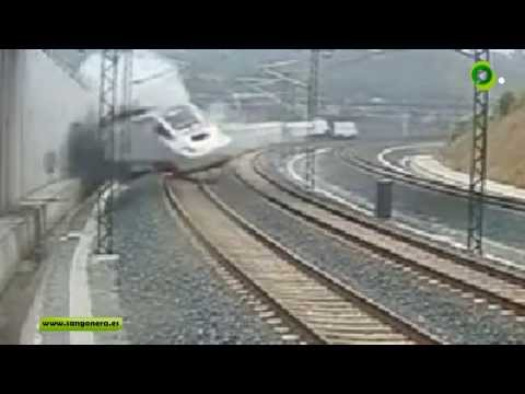 209km/h crash Video del accidente de Tren de Santiago de Compostela